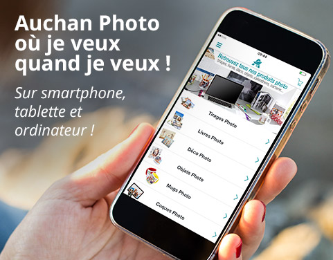 Application smartphone Auchan Photo