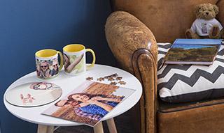 Objets photo personnalisés à partir de 1,80€