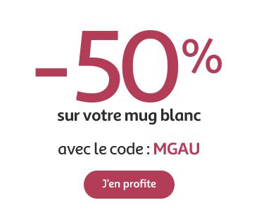 50% Sur Votre Mug Photo Personnalisé Et Livraison GRATUITE | Auchan Photo