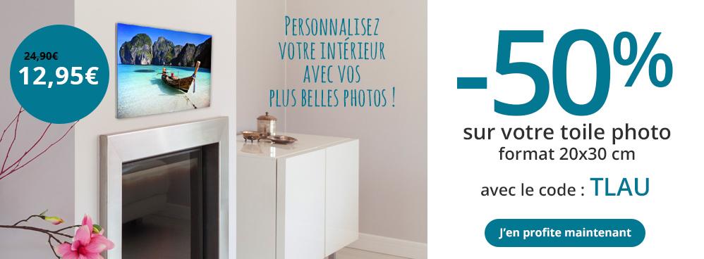 50 sur votre photo sur toile et livraison gratuite. Black Bedroom Furniture Sets. Home Design Ideas